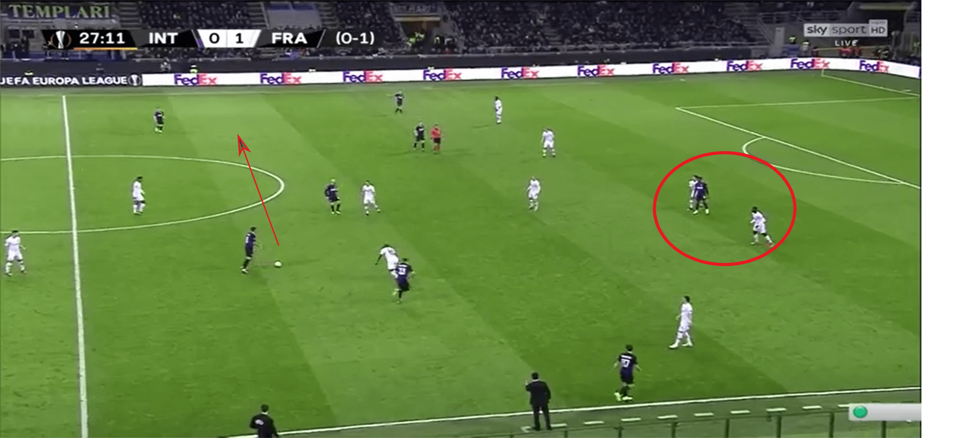 Frankfurt defence - Inter offensive approach