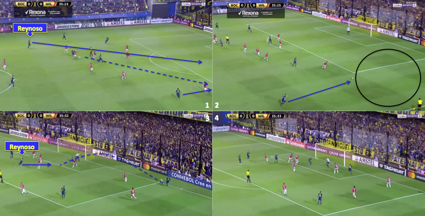 Buffarini's influence in Boca's goal