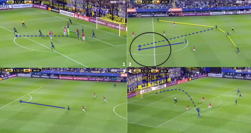 Boca's counter attack