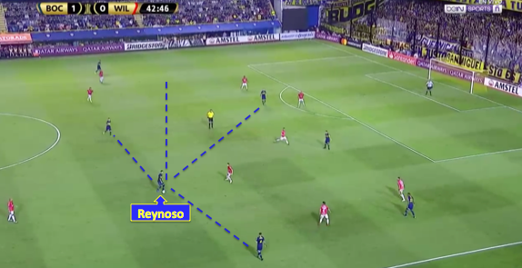 Reynoso with several pass options