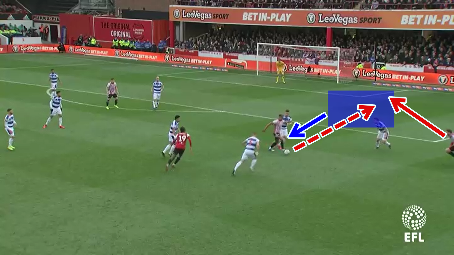 Ollie Watkins 2018/19 scout report tactical analysis tactics