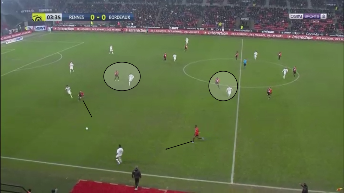 Ligue 1 2019/20: Rennes vs Bordeaux - Tactical Analysis tactics
